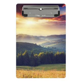 Mini Porte-bloc Coucher du soleil majestueux dans le paysage 4 de