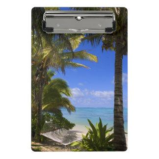 Mini Porte-bloc Îles Cook rayées par paume de plage 2
