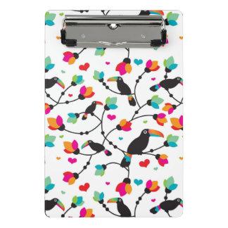 Mini Porte-bloc illustration tropicale d'oiseau mignon de toucan