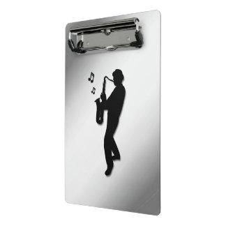 Mini Porte-bloc Joueur de saxophone