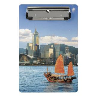 Mini Porte-bloc La Chine ; Hong Kong ; Port de Victoria ; Port