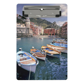 Mini Porte-bloc L'Europe, Italie, Vernazza. Bateaux brillamment