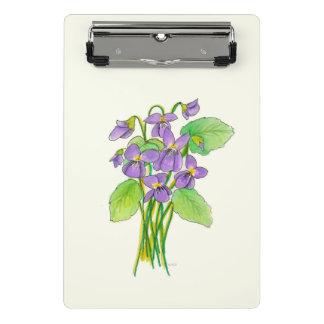 Mini Porte-bloc Mini porte - bloc de violettes sauvages