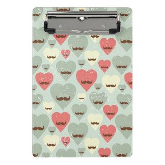 Mini Porte-bloc Motif de Valentine avec le coeur et la moustache