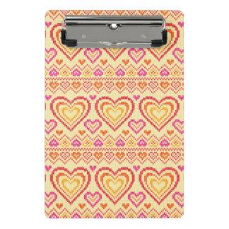 Mini Porte-bloc Motif tricoté par Saint-Valentin