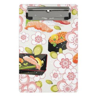 Mini Porte-bloc Nourriture japonaise : Motif 2 de sushi