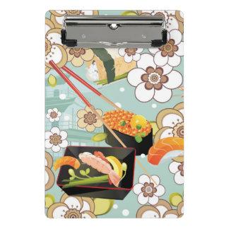 Mini Porte-bloc Nourriture japonaise : Motif 4 de sushi