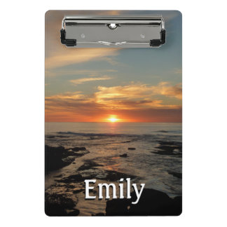 Mini Porte-bloc Paysage marin du coucher du soleil II la