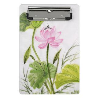 Mini Porte-bloc Peinture d'aquarelle de la fleur de Lotus 2
