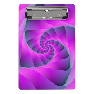 Mini Porte-bloc Spirale rose et bleue