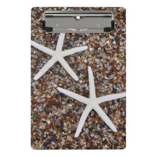 Mini Porte-bloc Squelettes d'étoiles de mer sur la plage en verre