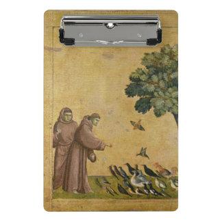 Mini Porte-bloc St Francis d'Assisi prêchant aux oiseaux