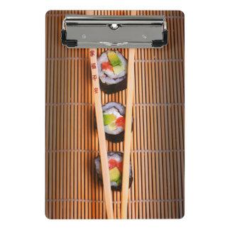 Mini Porte-bloc Sushi et baguettes en bois