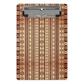 Mini Porte-bloc Texture ethnique de Brown