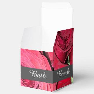 Mini rose rouge boites faveurs de mariage