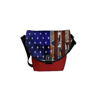 mini sac messenger à drapeau américain besace