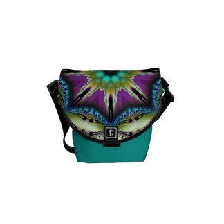 Mini sac messenger à kaléidoscope artistique frais besaces
