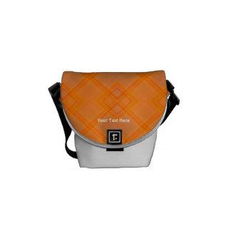 Mini sac messenger à plaid orange sacoches