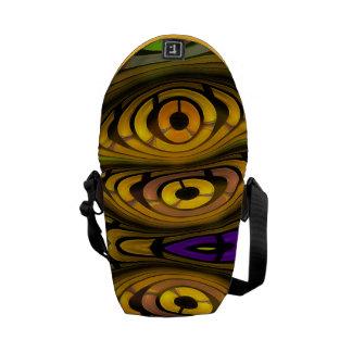 Mini sac messenger abstrait artistique moderne sacoches