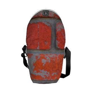Mini sac messenger affligé à brique orange besace