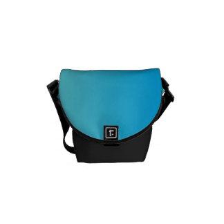"""Mini sac messenger : """"Aqua Ombre bleu"""" Sacoches"""