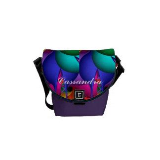 Mini sac messenger artistique personnalisé besace