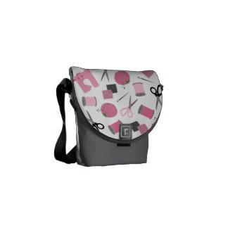 Mini sac messenger de couture à thème sacoches