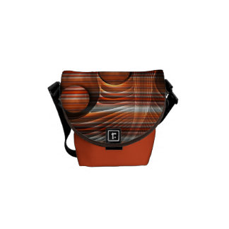 Mini sac messenger zéro abstrait rayé artistique sacoche