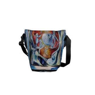 Mini sacs uniques par l'artiste Carol R Williams Sacoche