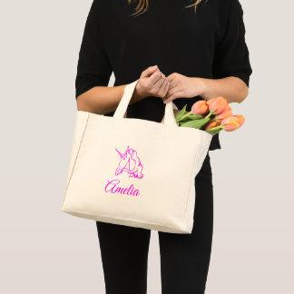 Mini Tote Bag Amelia ou votre magique mignon de licorne rose
