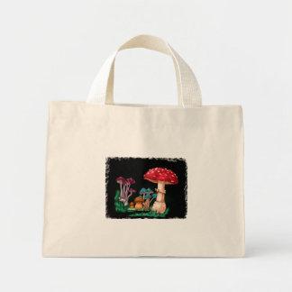 Mini Tote Bag Champignons