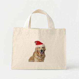 Mini Tote Bag Chien-animal familier de Labrador Noël-père Noël