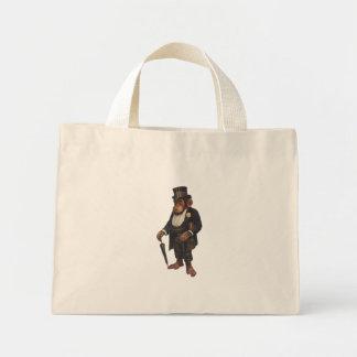 Mini Tote Bag Chimpanzé drôle - rétro singe - monkey le
