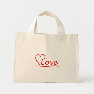 Mini Tote Bag Coeur avec des amours
