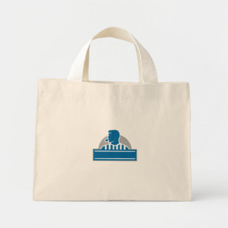 Mini Tote Bag Demi-cercle officiel de sifflement d'arbitre
