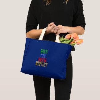 Mini Tote Bag Le sillage mangent la répétition de TAMBOUR