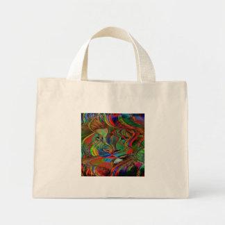 Mini Tote Bag Lion abstrait