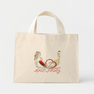 Mini Tote Bag Love Story
