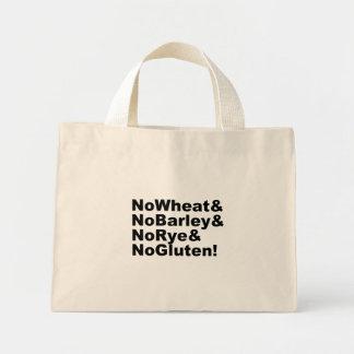 Mini Tote Bag NoWheat&NoBarley&NoRye&NoGluten ! (noir)