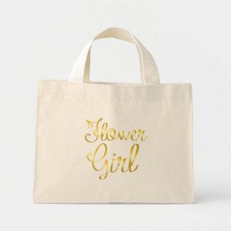 Mini Tote Bag Or de demoiselle de honneur minuscule, petit