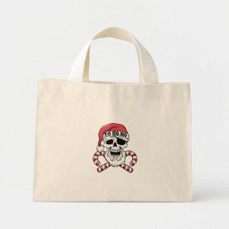 Mini Tote Bag Yo ho ho - pirate père Noël - le père noël drôle