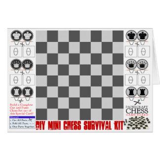 Mini trousse de survie d'échecs de do-it-yourself carte de vœux