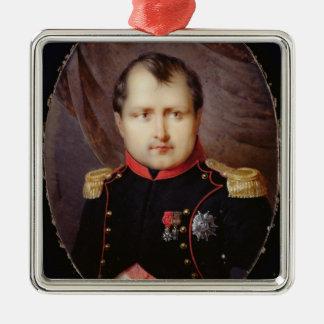 Miniature du portrait T34002 du napoléon I Ornement Carré Argenté