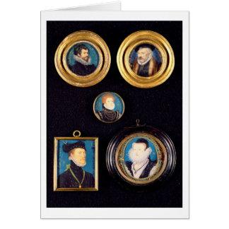 Miniatures du père de Hilliard et de la mère, Carte De Vœux
