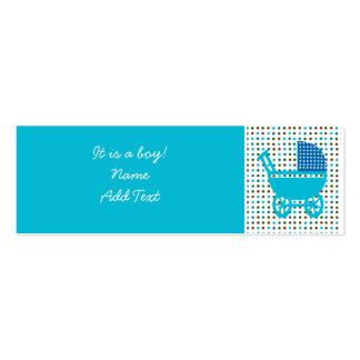 Minicard de faire-part de naissance de bébé carte de visite petit format