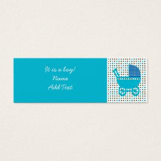 Minicard de faire-part de naissance de bébé mini carte de visite