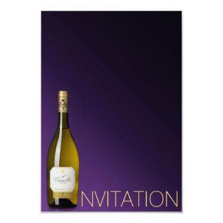 Minimalisme Ombre fascinant chic VIP de vin de Carton D'invitation 8,89 Cm X 12,70 Cm