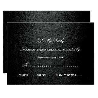 Minimalisme personnalisé par noir fascinant de VIP Carton D'invitation 12,7 Cm X 17,78 Cm
