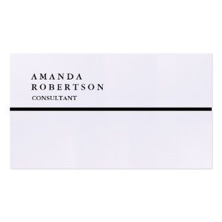 Minimaliste à la mode simple spécial exclusif de carte de visite standard