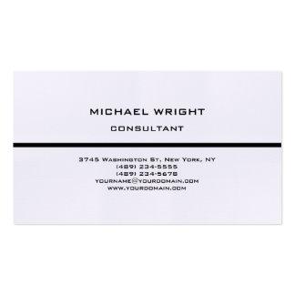Minimaliste attirant simple simple moderne de carte de visite standard